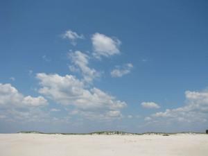 sable, dunes, ciel