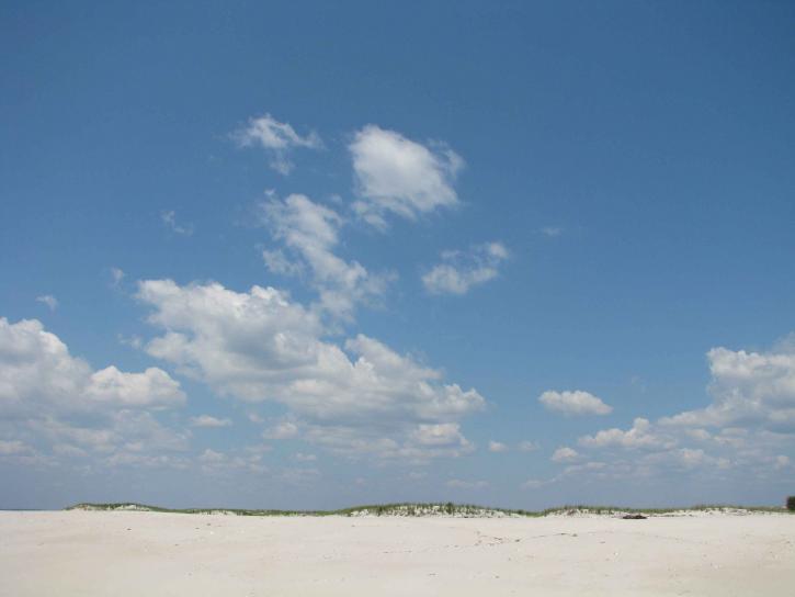 пясък, дюните, небе