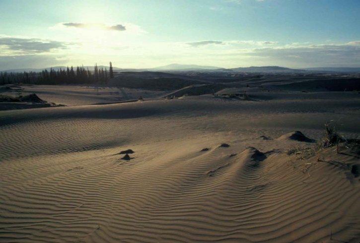пясък, дюните, Изгрев, senic