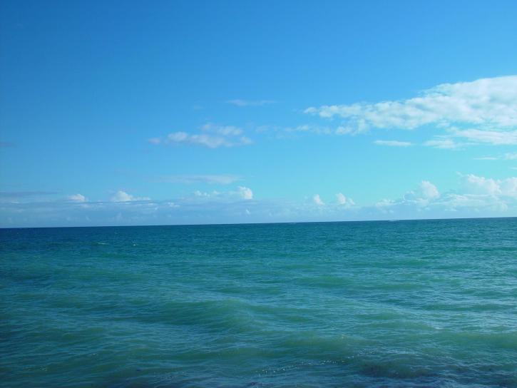mer, ciel, nuages