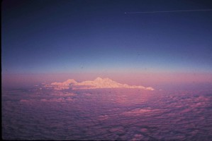 cloud, secenic, aerial, snowy, mountain