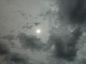 cizinec, obloha, mlhavé, slunce, dvě vrstvy, mrak, joondalup