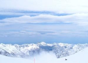 montagnes, bleu, ciel