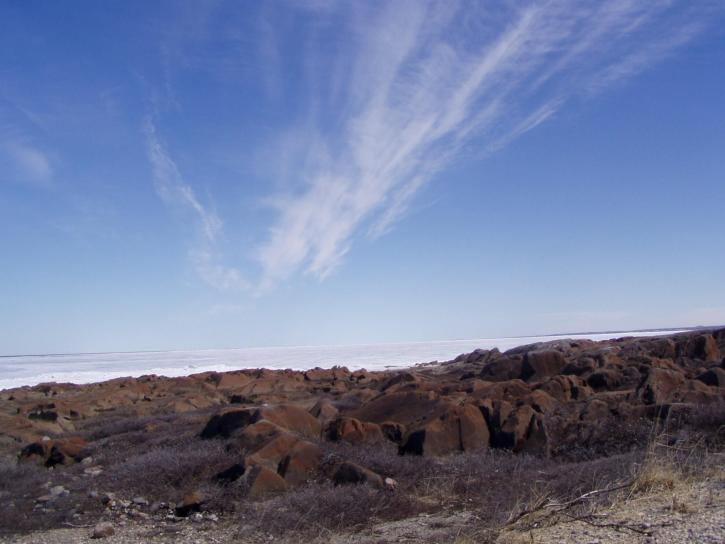 Арктика, небе, пейзаж