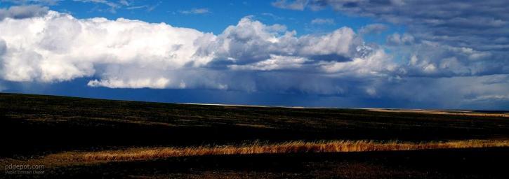 blue, sky, field