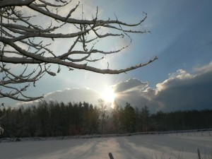breaking, clouds, winter, day