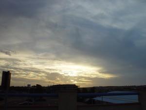 luminoso, tramonto, cielo, luce, ustioni, spiaggia
