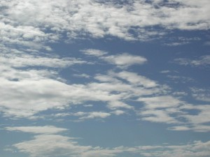 clouds, blue sky, clear, weather