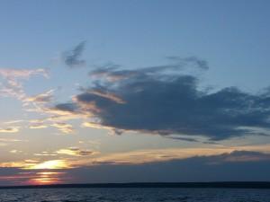 nuages, coucher de soleil