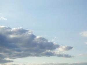 clouds, clear, sky