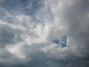 oblaky, obloha, počasie, modrá