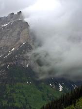clouds, glacier