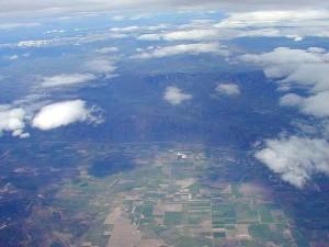 ground, clouds, airplane