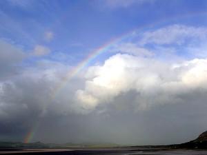 ireland, rainbows, couds, sky