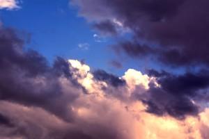 ciel, nuages, sale