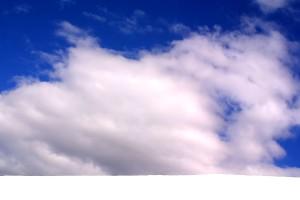 ciel, nuages, blanc