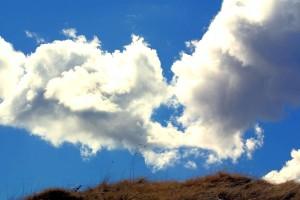 ciel, obove, colline