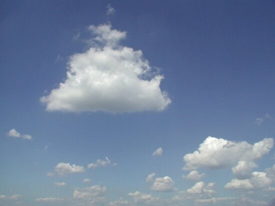 small, clouds