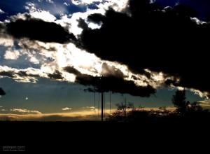 storm, dark, clouds