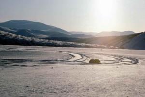 Flugzeug, Schienen, Schnee, noatak, Fluss