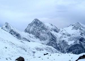 mountains, snow