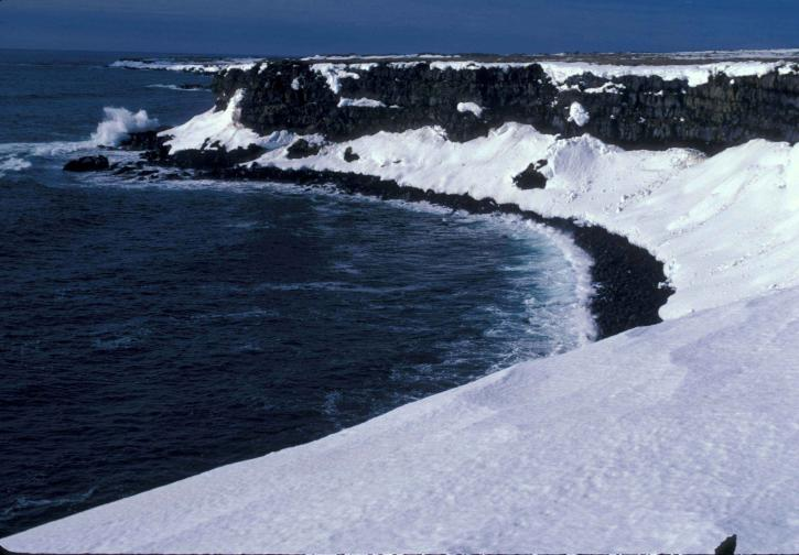 bering, sea, shore, ice