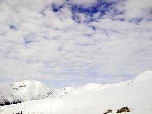 paysage, neige, montagne