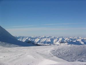 montagne, vallée, neige