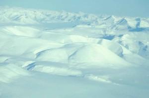 agréable, neige blanc, montagnes