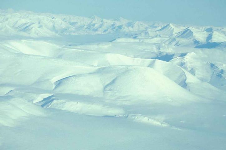 schön, weißer Schnee, Berge