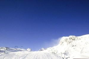 snow, clear, sky