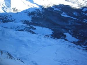 neige, ombre, montagnes