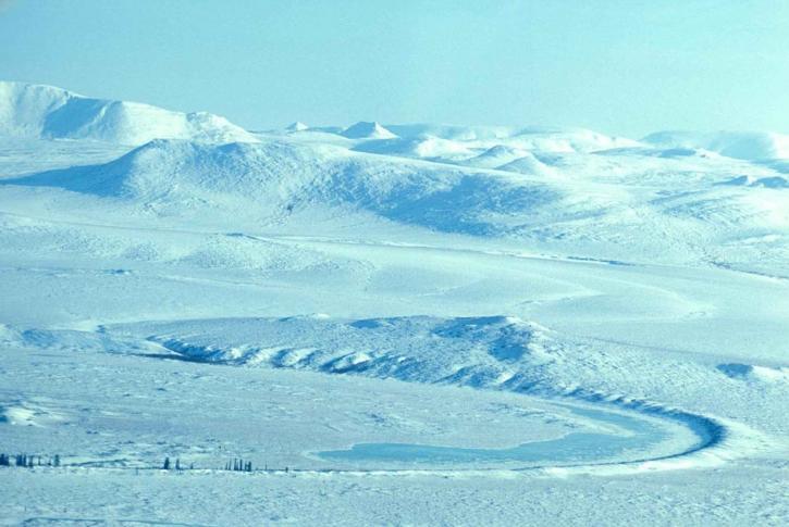 blanc, jour, neigeux, montagnes