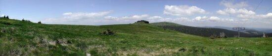 mountain, summer, panorama