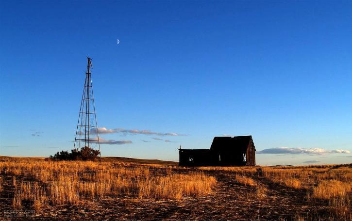 old, farm, house