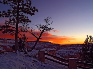 just, sunrise, bryce, canyon, national park