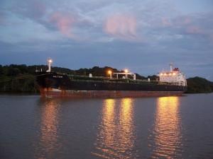 Panama, canalul, răsărit de soare