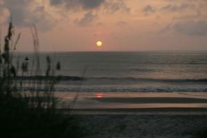 rising, Sun, water