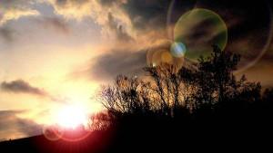 le lever du soleil, mauvais, temps