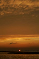 lever de soleil, nuages