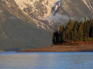 le lever du soleil, lac