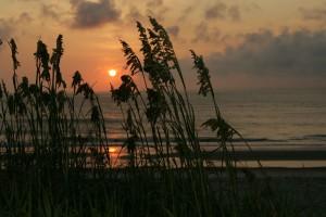 le lever du soleil, île, désert, refuge