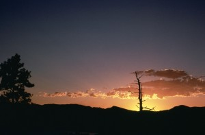 sunset, flaming, Gorge, Utah
