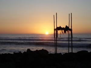 sunset, Kuemanu, Heiau