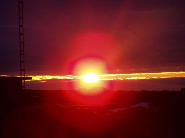 Canada, brann, solnedgang