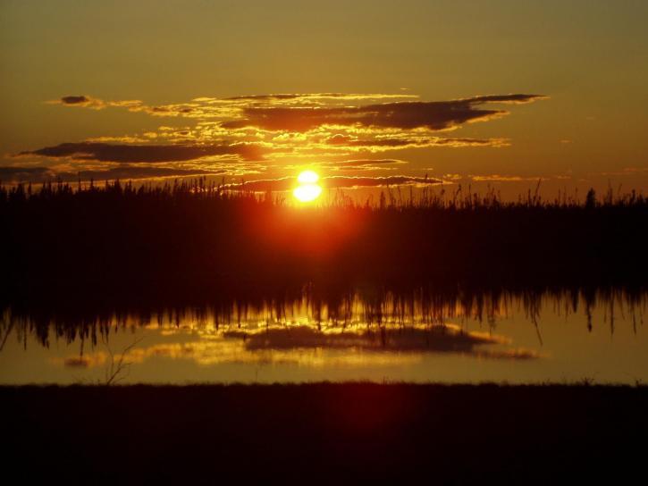 Kanada, západ slunce