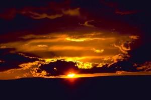 carlsbad, cavernes, parc national, coucher de soleil
