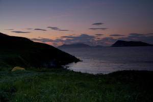 chowiet, île, coucher de soleil