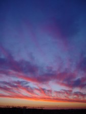 Currambine, coucher de soleil, jet, nuages, occidental, Australie