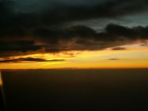 тъмно, облаци, Сънсет